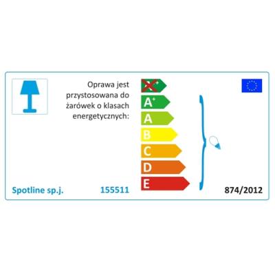 Lampa 155511 spotline FORCHINI PD-2 BIAŁY/ZŁOTY sufitowa żyrandol