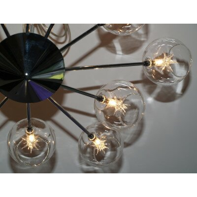 Lampa  żyrandol chrom  BALL  6sp OKAZJA OD RĘKI
