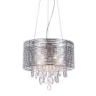 Lampa żyrandol FELLA 40cm srebrna kryształki OD RĘKI