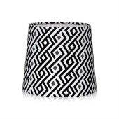 Lampa stołowa abażur GRAPHIC biały/czarny