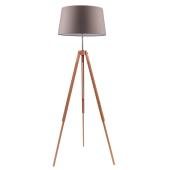 Lampa podłogowa TRIPOD 158cm dąb brązowy klosz
