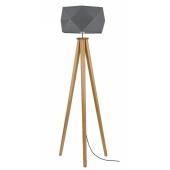 Lampa podłogowa FINJA 173cm dąb antracyt klosz