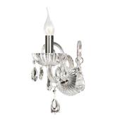 Lampa kinkiet QUEEN 34cm transparentny kryształ
