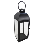 Lampa latarnia LYDIA 18x18x49cm czarna metal