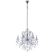 Lampa kryształ żyrandol Barocco italux 6sp transparentny