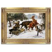 Kopia 90x120cm ATAK WILKÓW ręcznie malowana na płótnie