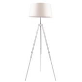 Lampa podłogowa TRIPOD 158cm dąb bielony beżowy klosz