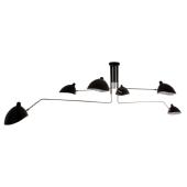 Lampa plafon DAVIS MDE610/4+2 Italux czarna