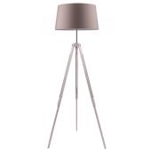 Lampa podłogowa TRIPOD 158cm dąb bielony brązowy klosz