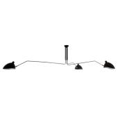Lampa plafon DAVIS MDE610-3 Italux czarna