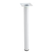 Noga meblowa HORN 30x3,0cm metalowa biała