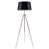 Lampa podłogowa TRIPOD 158cm dąb bielony czarny klosz