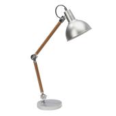 Lampa Biurkowa ERIC metal/drewno Spotlight od ręki