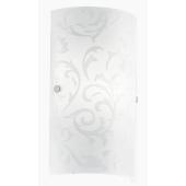 EGLO kinkiet biały Amadora szkło kwiaty wzór OD RĘKI