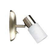 Lampa kinkiet patyna KIRA 1xE14 biały