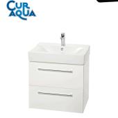 Szafka łazienkowa z umywalką laminowana biała 60cm