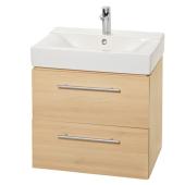 Szafka łazienkowa z umywalką laminowana dąb 60cm