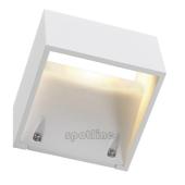 Lampa ogrodowa ścienna kinkiet LOGS WALL IP44 biały 232101 Spotline