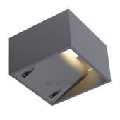 Lampa ogrodowa ścienna kinkiet LOGS WALL IP44 srebrnoszary 232104 Spotline