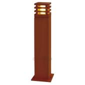 Lampa słupek 229421 spotline RUSTY 70 KWADRATOWA IP55 stal rdza stojąca ogrodowa
