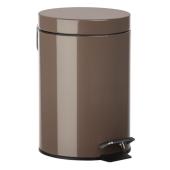 Kosz na śmieci łazienkowy 3l Brązowy