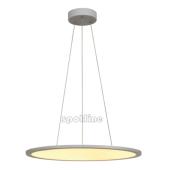 Lampa 158633 spotline LED PANEL ROUND 3000K srebrnoszary wisząca sufitowa