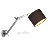 Lampa 156010 spotline TENORA WL-2 czarna kinkiet ścienna ruchome ramie