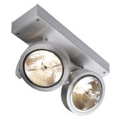 Lampa 147266 spotline KALU 2 aluminium szczotkowane kinkiet ścienna sufitowa
