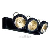 Lampa 147270 spotline KALU 3 czarna kinkiet ścienna sufitowa