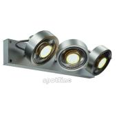 Lampa 147326 spotline KALU 3 QPAR aluminium szczotkowane kinkiet ścienna sufitowa