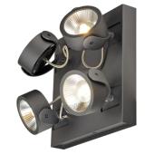 Lampa 147640 spotline KALU 4 LED czarny rozeta kwadratowa kinkiet ścienna sufitowa