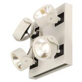 Lampa 147641 spotline KALU 4 LED biały rozeta kwadratowa kinkiet ścienna sufitowa