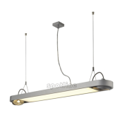 Lampa 159094 spotline AIXLIGHT R OFFICE T5 39W srebrnoszara sufitowa wisząca