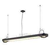 Lampa 159110 spotline AIXLIGHT R OFFICE T5 54W czarna sufitowa wisząca