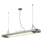 Lampa 159104 spotline AIXLIGHT R2 OFFICE T5 39W srebrnoszara sufitowa wisząca