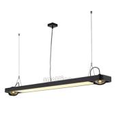 Lampa 159120 spotline AIXLIGHT R2 OFFICE T5 54W czarna sufitowa wisząca