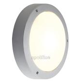 Lampa 232424 spotline DRAGAN IP44 z sensorem ruchu srebrnoszary plafon ogrodowa zewnętrzna