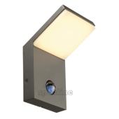 Lampa 232915 spotline ORDI LED IP44 z czujnikiem ruchu antracyt kinkiet ogrodowa zewnętrzna