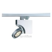 Lampa 153502 spotline DOME LED Z ADAPTEREM 3 FAZOWYM srebrnoszary RELFEKTOR oprawa SPOT do systemu szynowego 3-fazowego