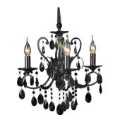 Lampa kryształ kinkiet Barocco italux czarny kryształ