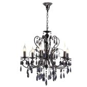 Lampa kryształ żyrandol Barocco italux czarny