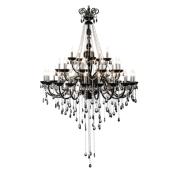 Lampa wisząca QUEEN 135cm czarny kryształ