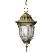 Lampa wisząca ogrodowa PALACE gold IP43 aluminiowa przecierana