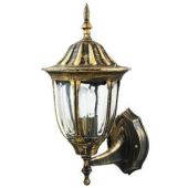Lampa kinkiet ścienny PALACE gold IP43 góra  aluminiowa przecierana