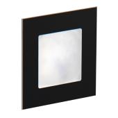 Oświetlenie schodowe LED Angel podtynkowe szczotkowane czarne