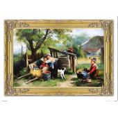 Kopia 75x105cm MALARSTWO POLSKIE ręcznie malowana na płótnie