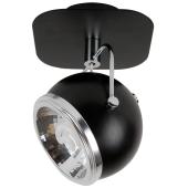 Lampa kinkiet czarny Ball 1xGU10 9W