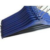 Zestaw wieszaków 10 sztuk na ubrania do szafy garderoby spodnie koszule antypoślizgowe elementy niebieski