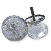 Gałka meblowa BUBBLES szkło ręczna robota 4 cm HANDMADE