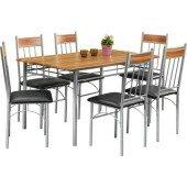 Zestaw do jadalni BILLIE 140x80 cm 7 częściowy stół krzesła kuchnia